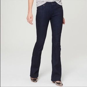 Ann Taylor LOFT Dark Wash Flare Jeans in Size 8